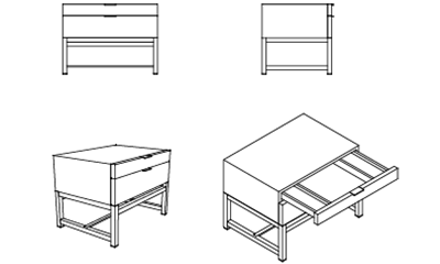 MinottiHarvey / Stone Grey68x50x50h cm