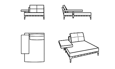 Cassina241 Prive/LeatherX1515x125x82h cm
