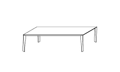 Molteni&CDiamond/Aluminium250x100x74h cm