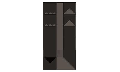 B&BLens LL33/Glass33x33x124h cm