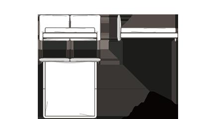 MinottiTatlin-Cover/Fabric G224x222x97h cm