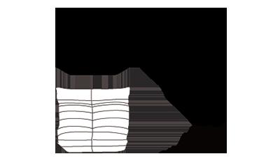 Ligne RosetTogo Lounge Sofa/Fabric131x162x70h cm