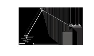 LuceplanBerenice/AluminiumD13.5 x 60h cm