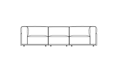 Cassina Mex / Fabric374 x 266 x 67h cm
